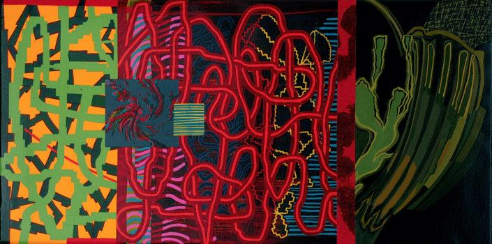 El reproche de unos recuerdos, 2004 acrílico s-tela 40x80 cm