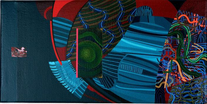 No se trata solo de un sueño-2004 acrílico s-tela 40x80 cm