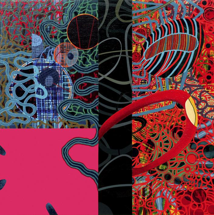 Un diálogo pendiente- 2004 acrílico s-tela 70x70 cm
