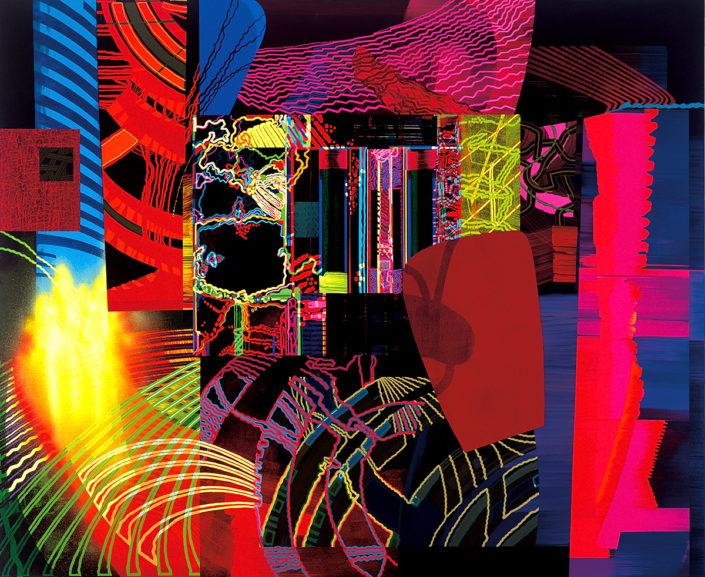 Al mirarme en tus ojos-2006 acrílico s-tela 160x195 cm.