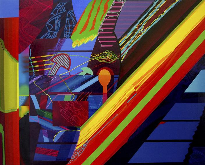 La interpretación ha terminado-2009 acrílico s-tela 81x100 cm.