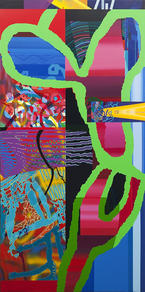 Dentro de un espacio encontrado-2011 acrílico s-tela 200x100 cm.