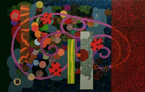 Cazador de mariposas-1999 óleo s-tela 81x130 cm.